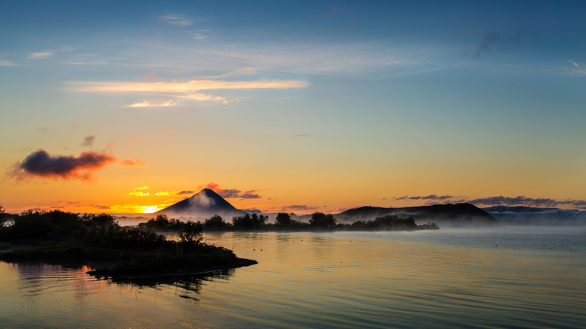 Myvatn Lake. Iceland