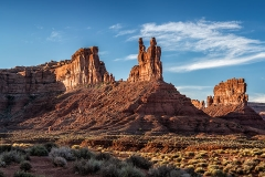 THE VALLEY OF THE GODS. UTAH